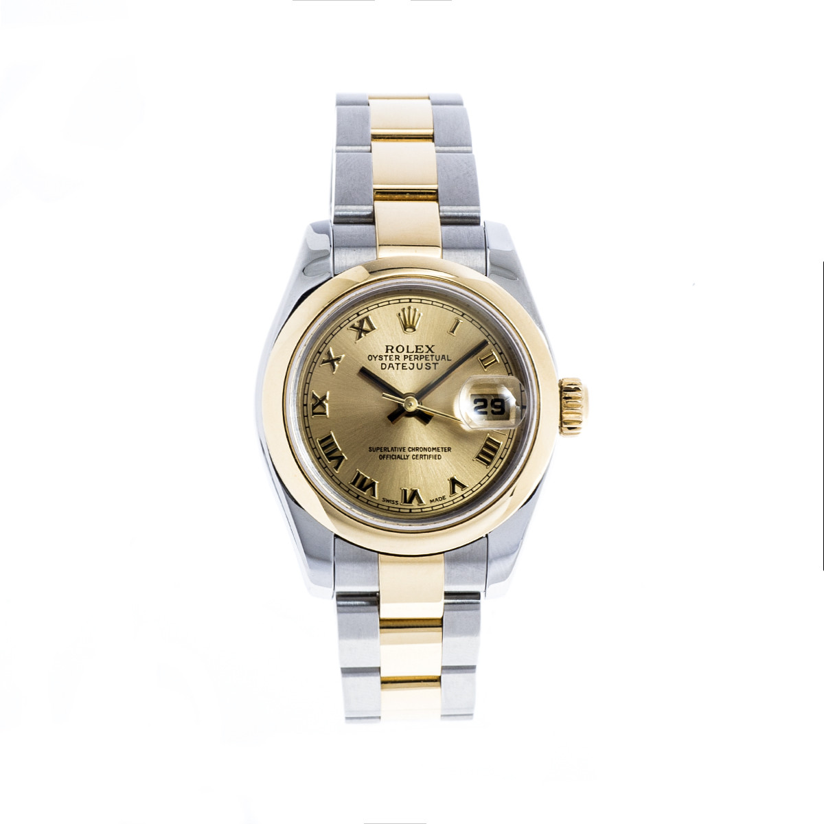 Pre-Owned Women's SS & 18K Gold Rolex Datejust with Gold-tone Dial
