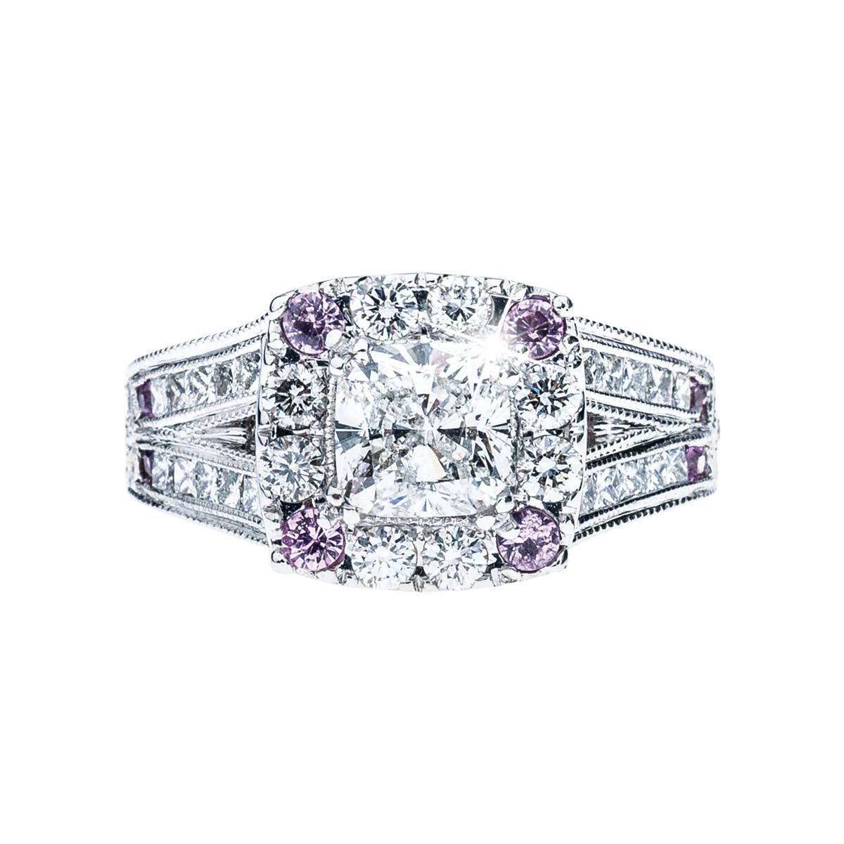 Vintage Neil Lane 2.04 CTW Diamond & Sapphire Engagement Ring