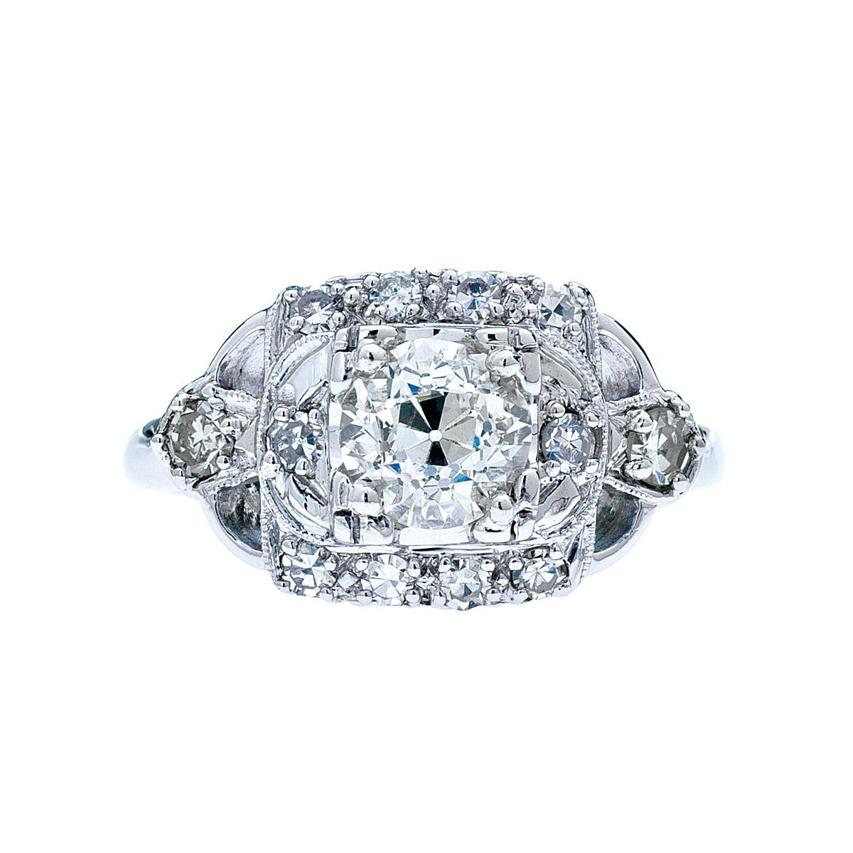 Vintage Art Deco Inspired 1.42 CTW Diamond Ring