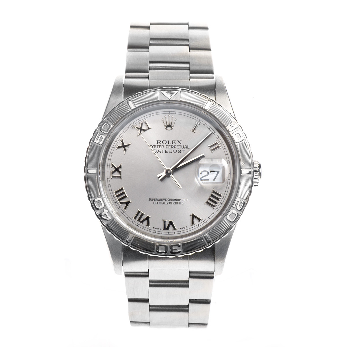 Pre-Owned Stainless Steel Rolex Datejust Thunderbird