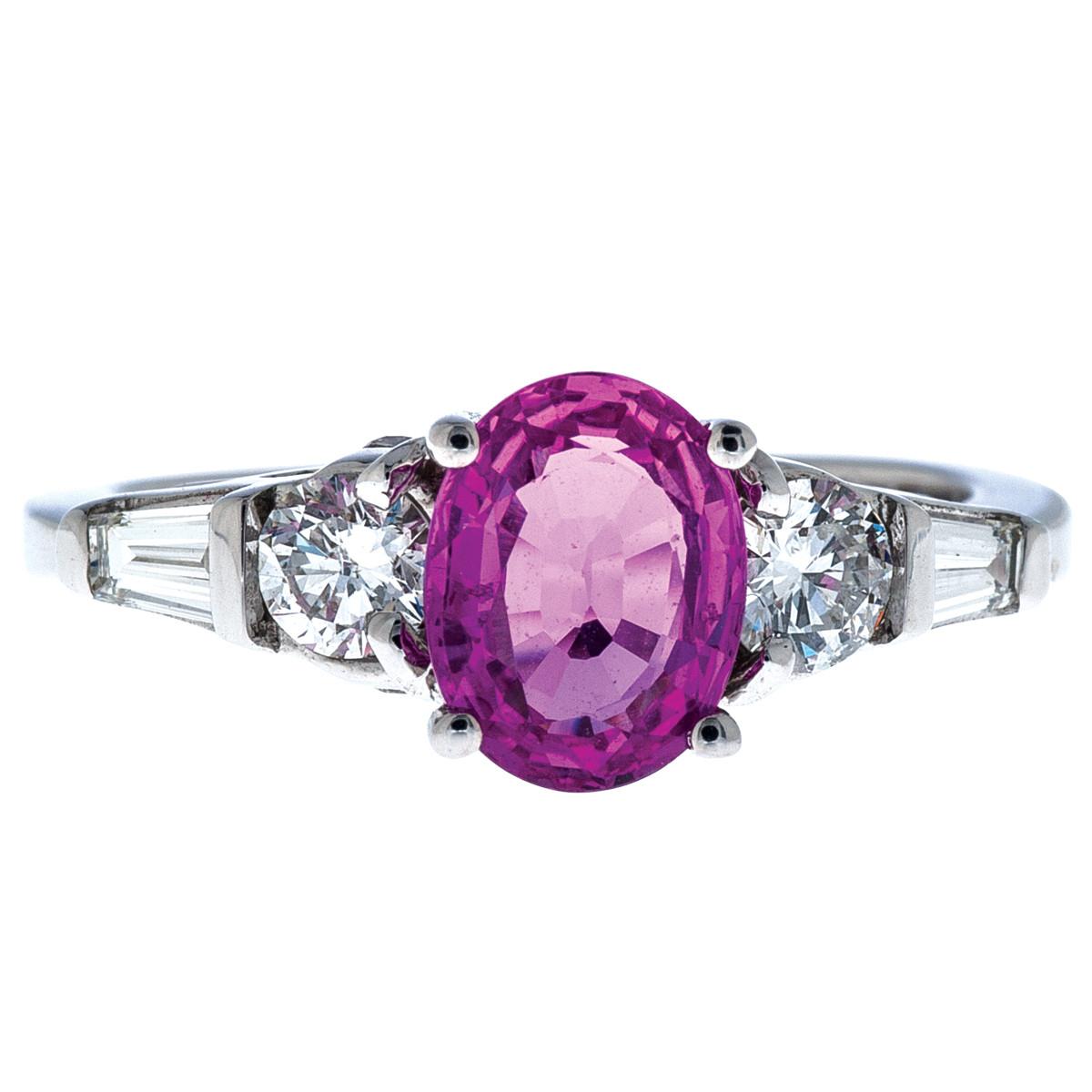 Vintage Le Vian 1.01 CT Sapphire & Diamond Ring