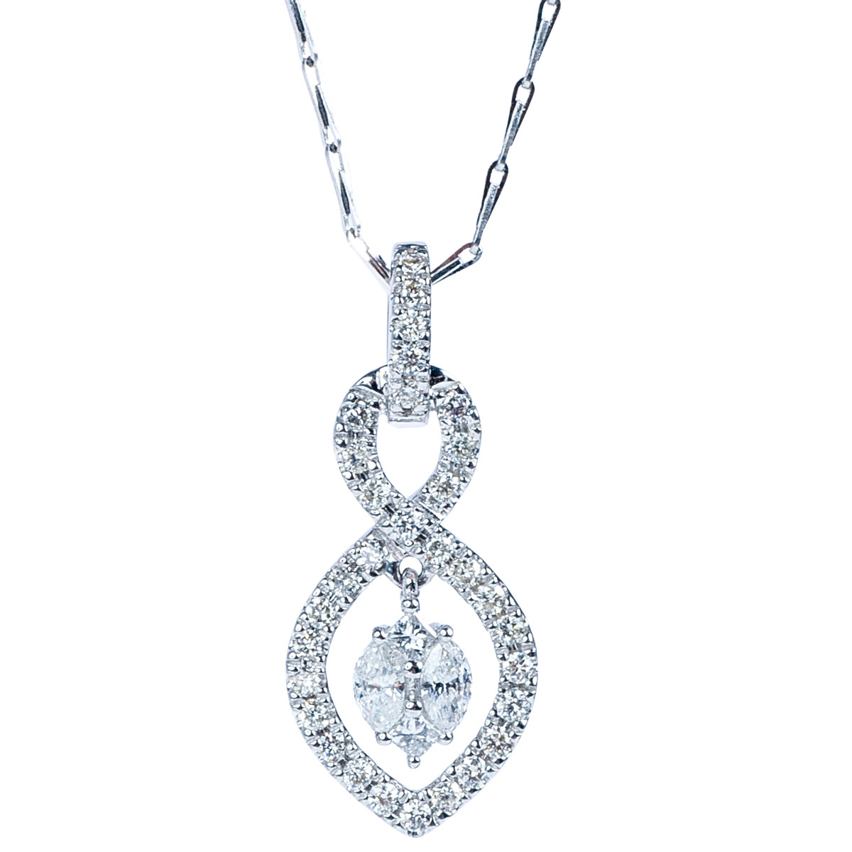 Oro Alexander 0.50 CTW Diamond Teardrop Pendant