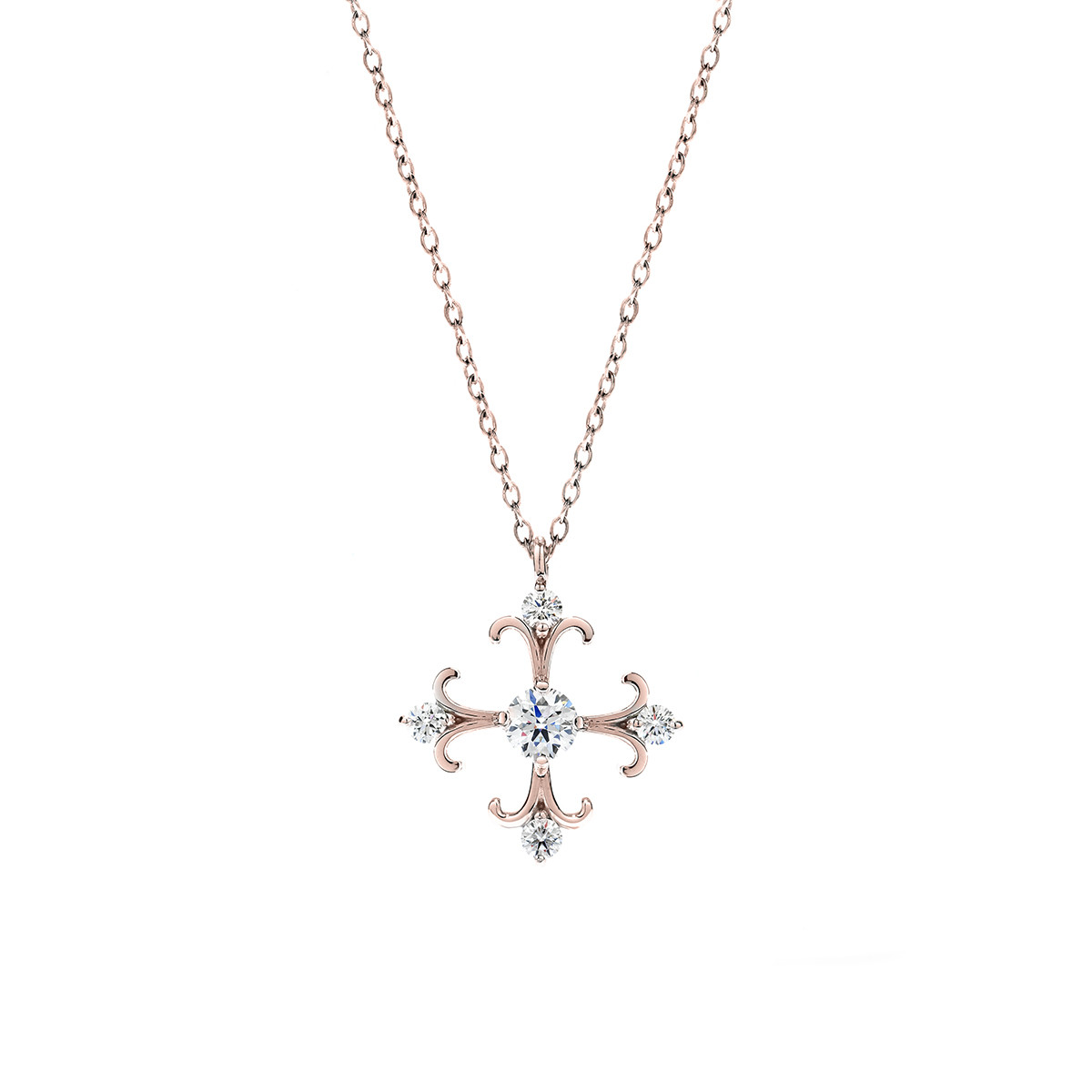 New Hearts On Fire® Fairy Tale Cross Necklace