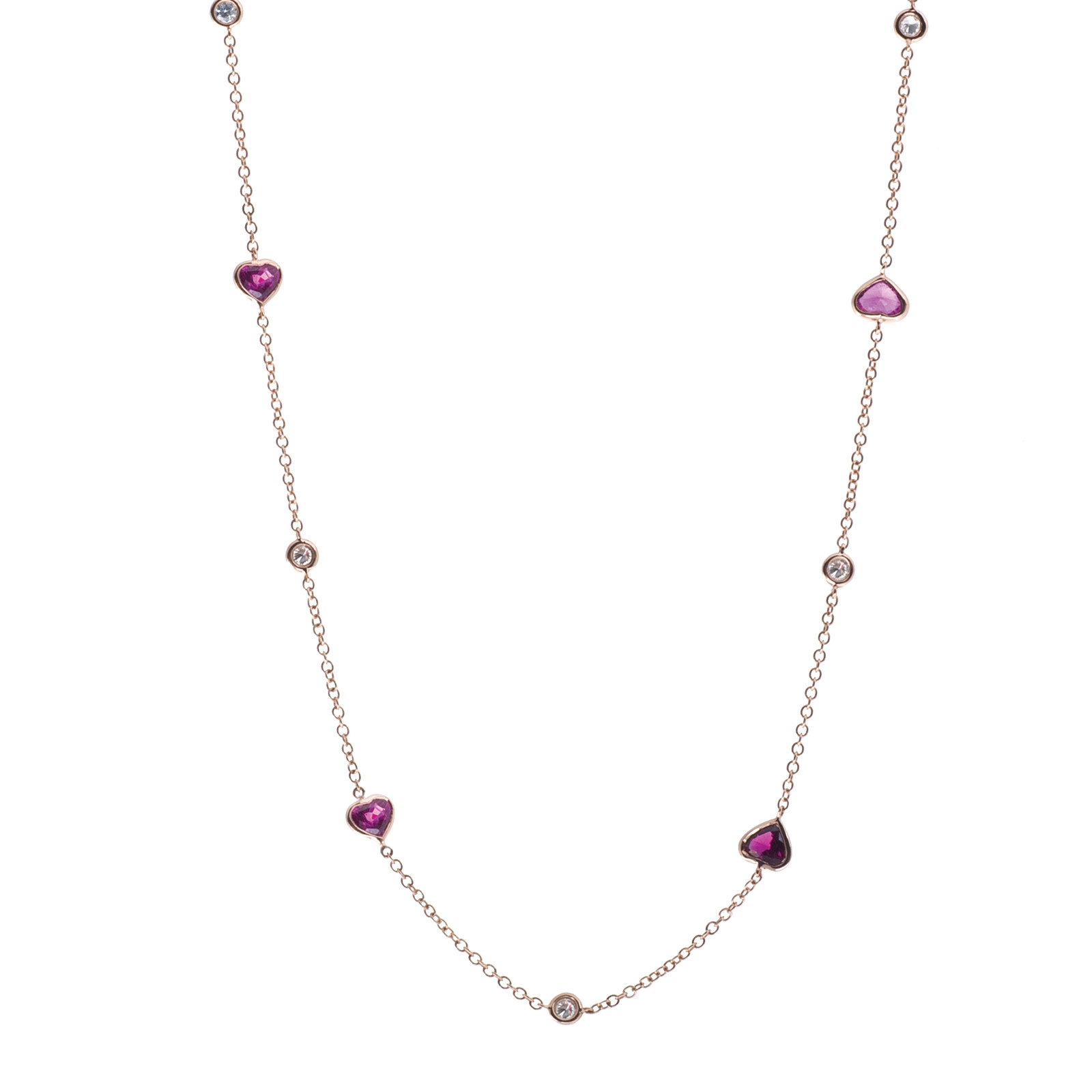 5.31 CTW Ruby & Diamond Necklace