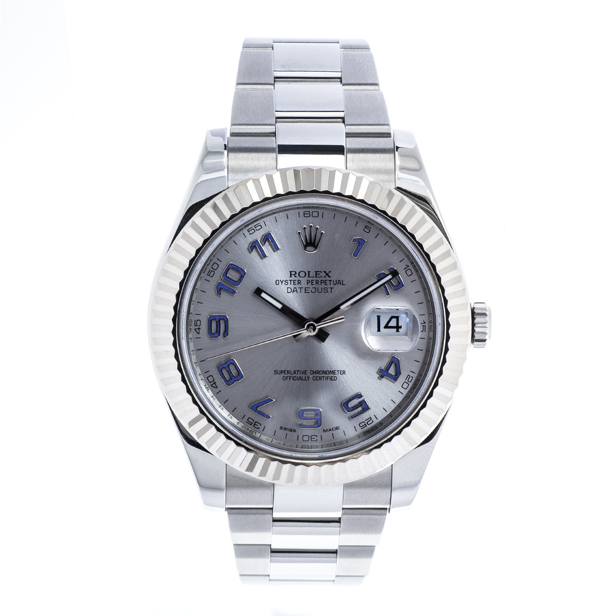 Pre-Owned Men's Stainless Steel Rolex Datejust II with Silver Dial