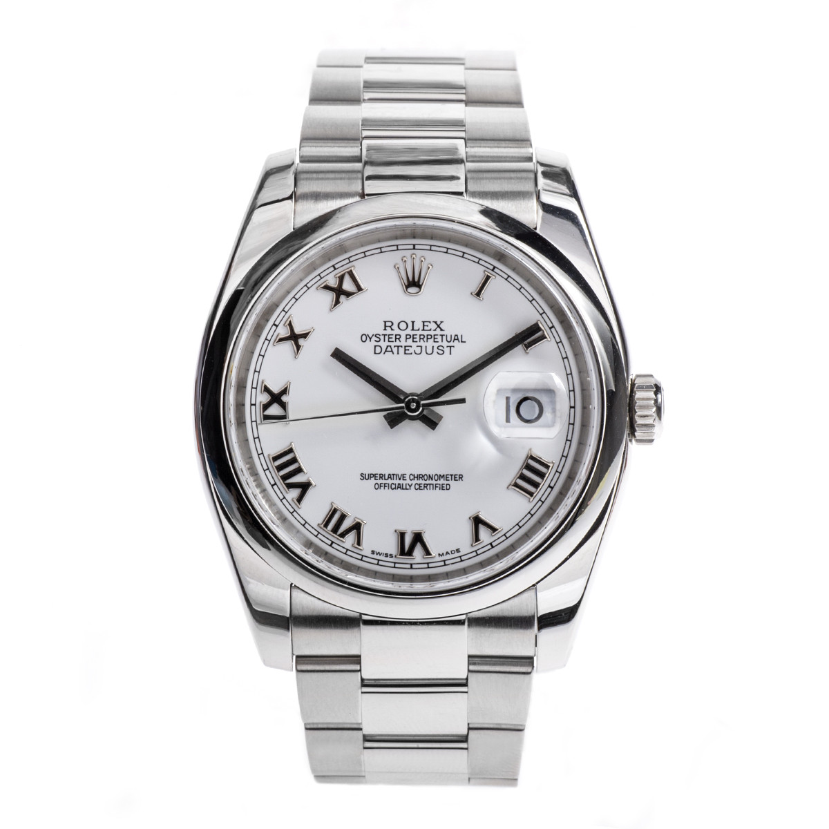 Pre-Owned Men's Rolex Datejust with White Dial