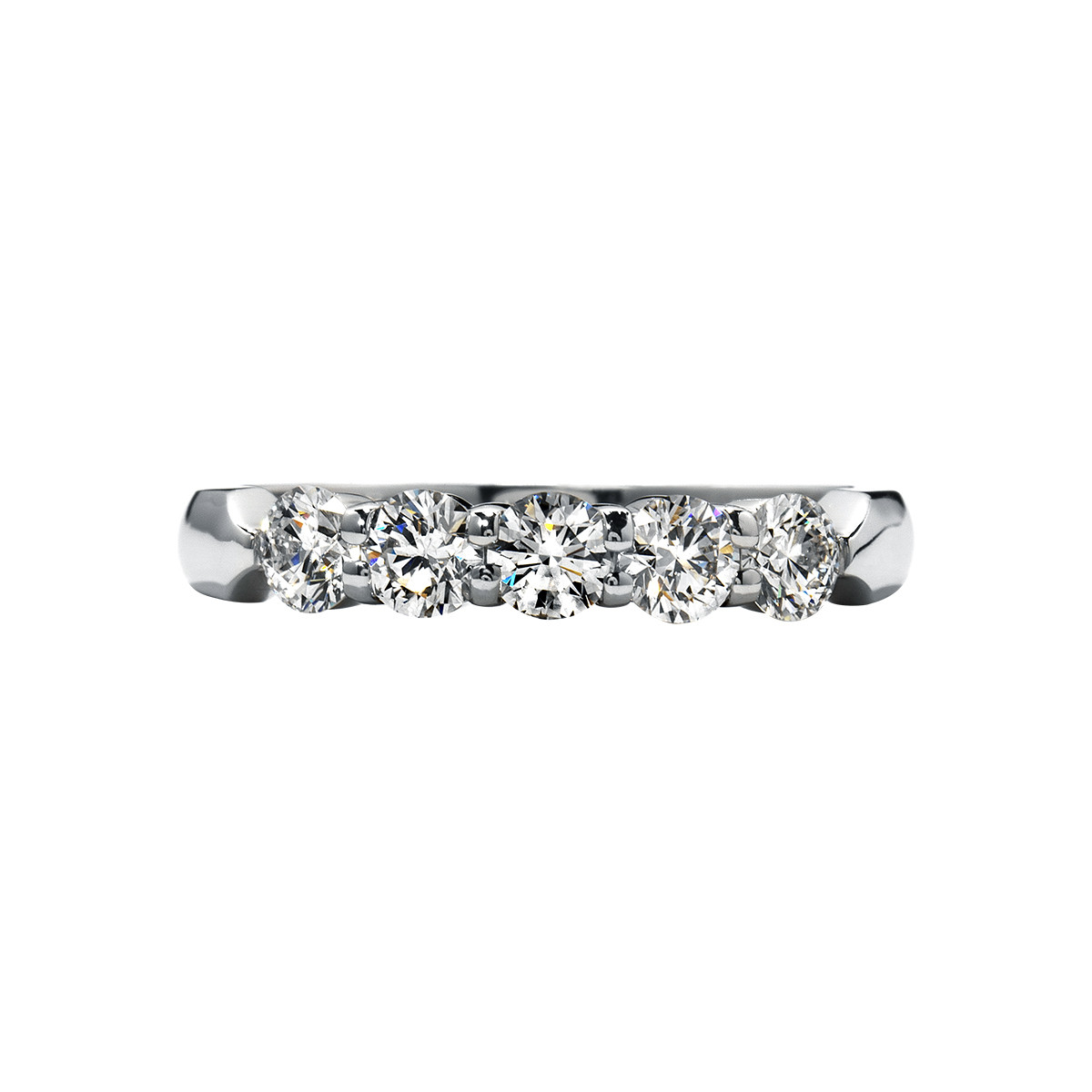 New Hearts On Fire® 0.56 CTW Diamond Five Stone Band