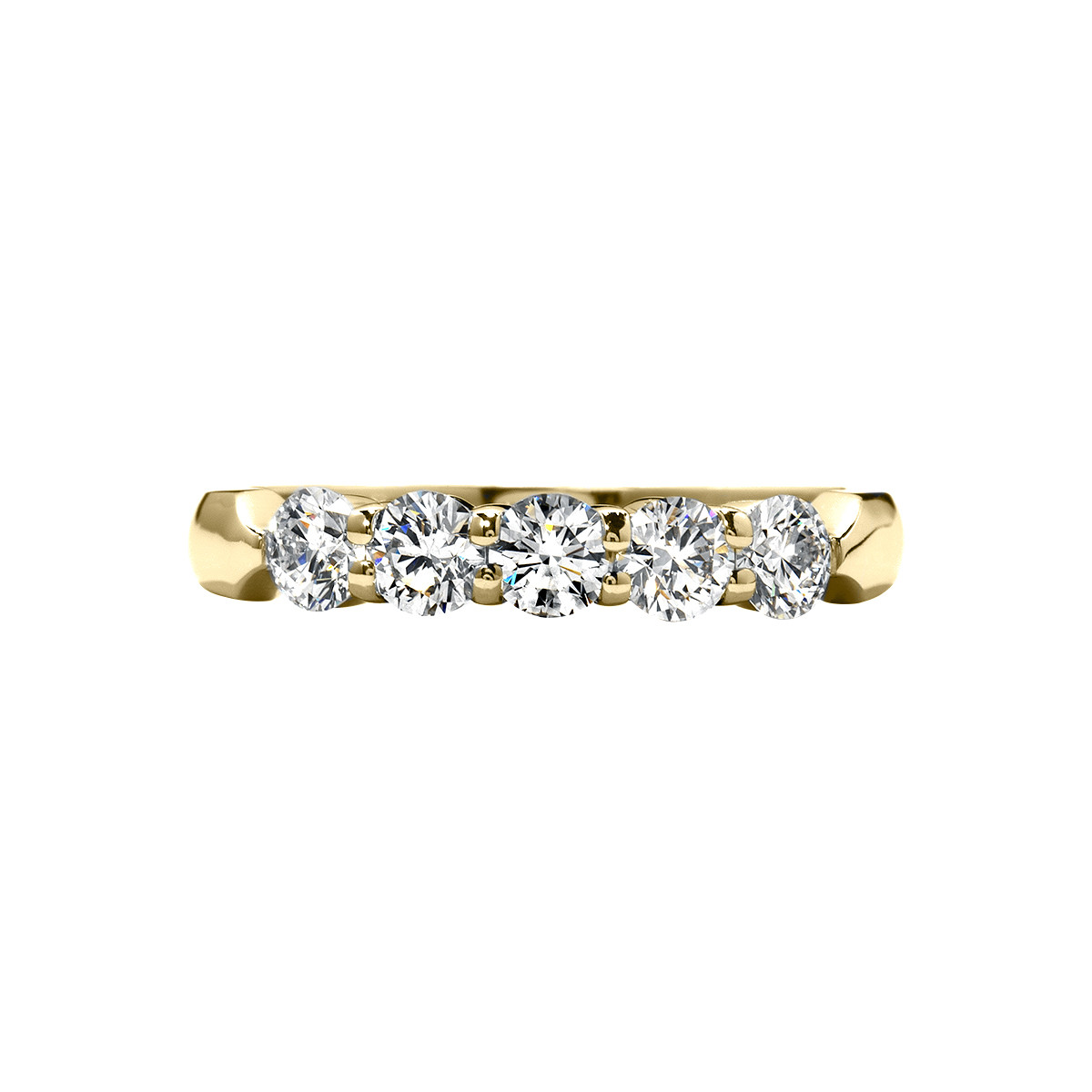 New Hearts On Fire® 0.54 CTW Diamond Five Stone Band