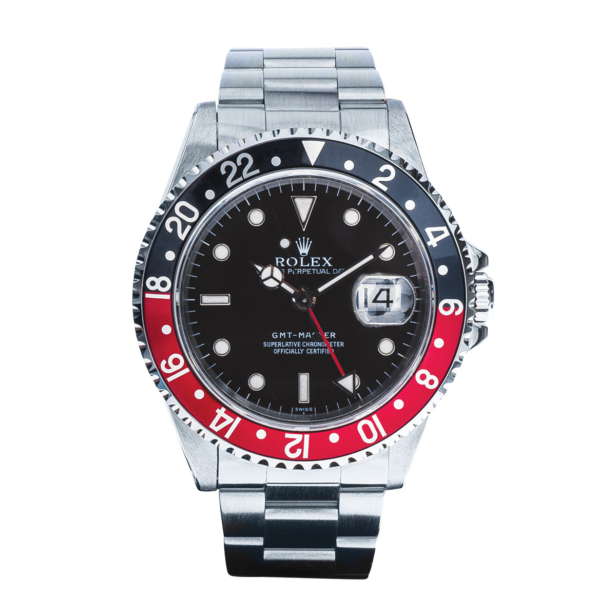 Pre-Owned Stainless Steel Rolex GMT-Master with Black Dial