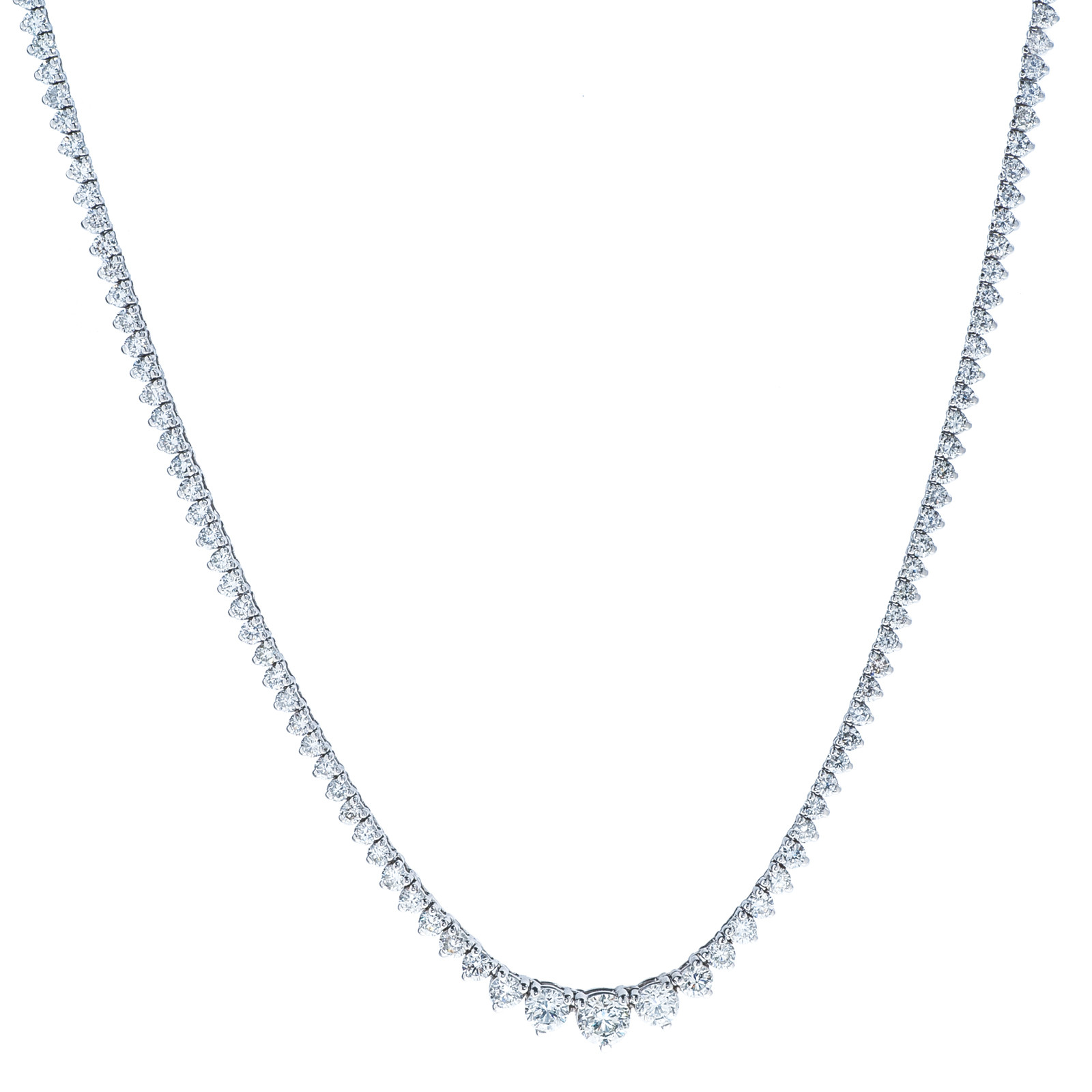 7.10 CTW Diamond Tennis Necklace