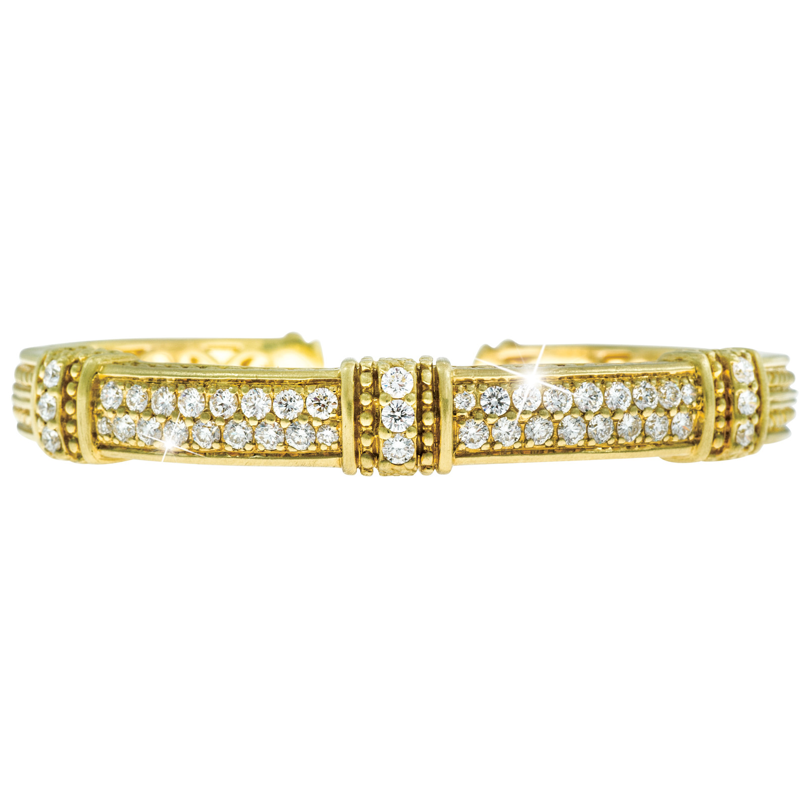 Vintage Judith Ripka 2.00 CTW Diamond Bangle