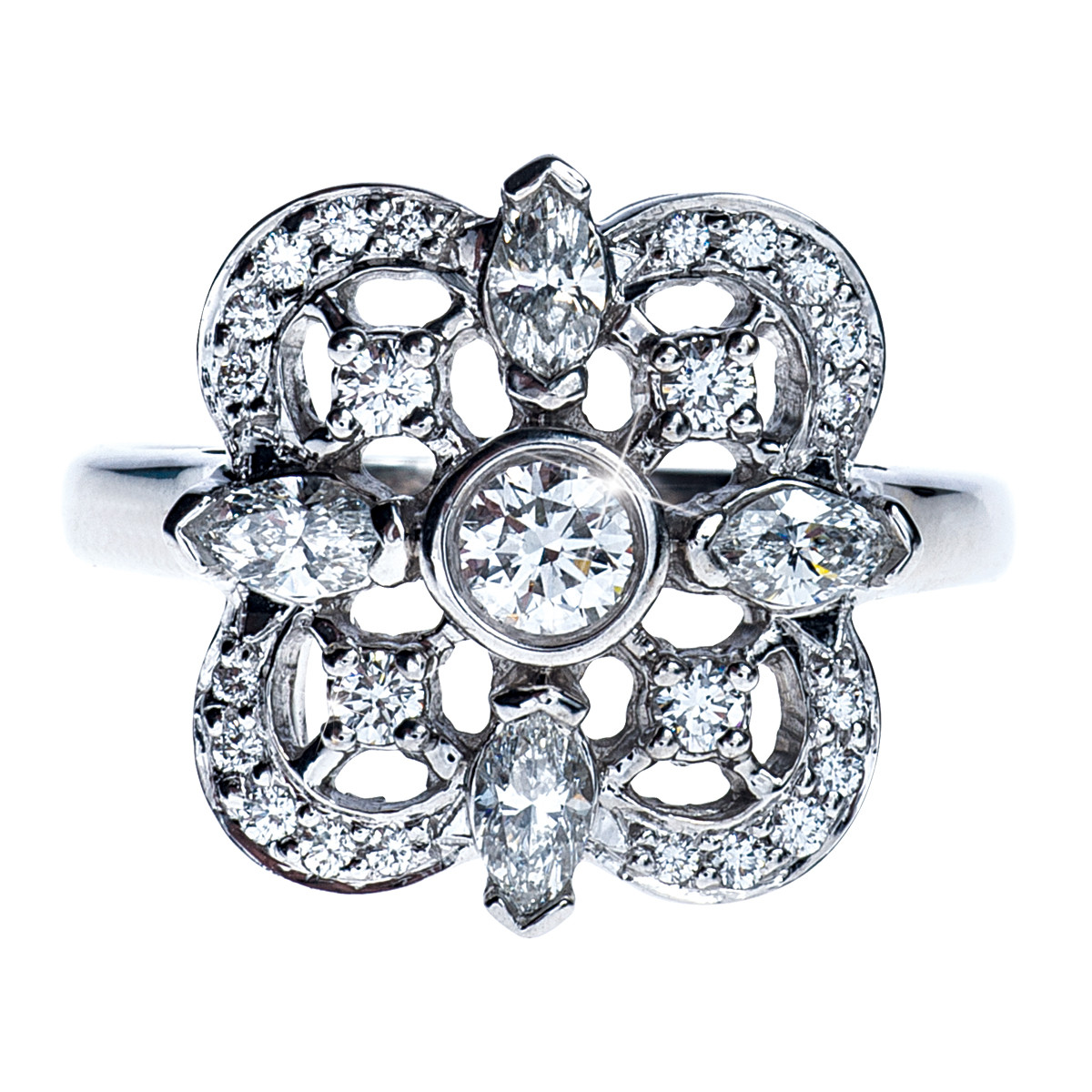 gold in rings ring sunburst white collection double kwiat style jewelry diamond