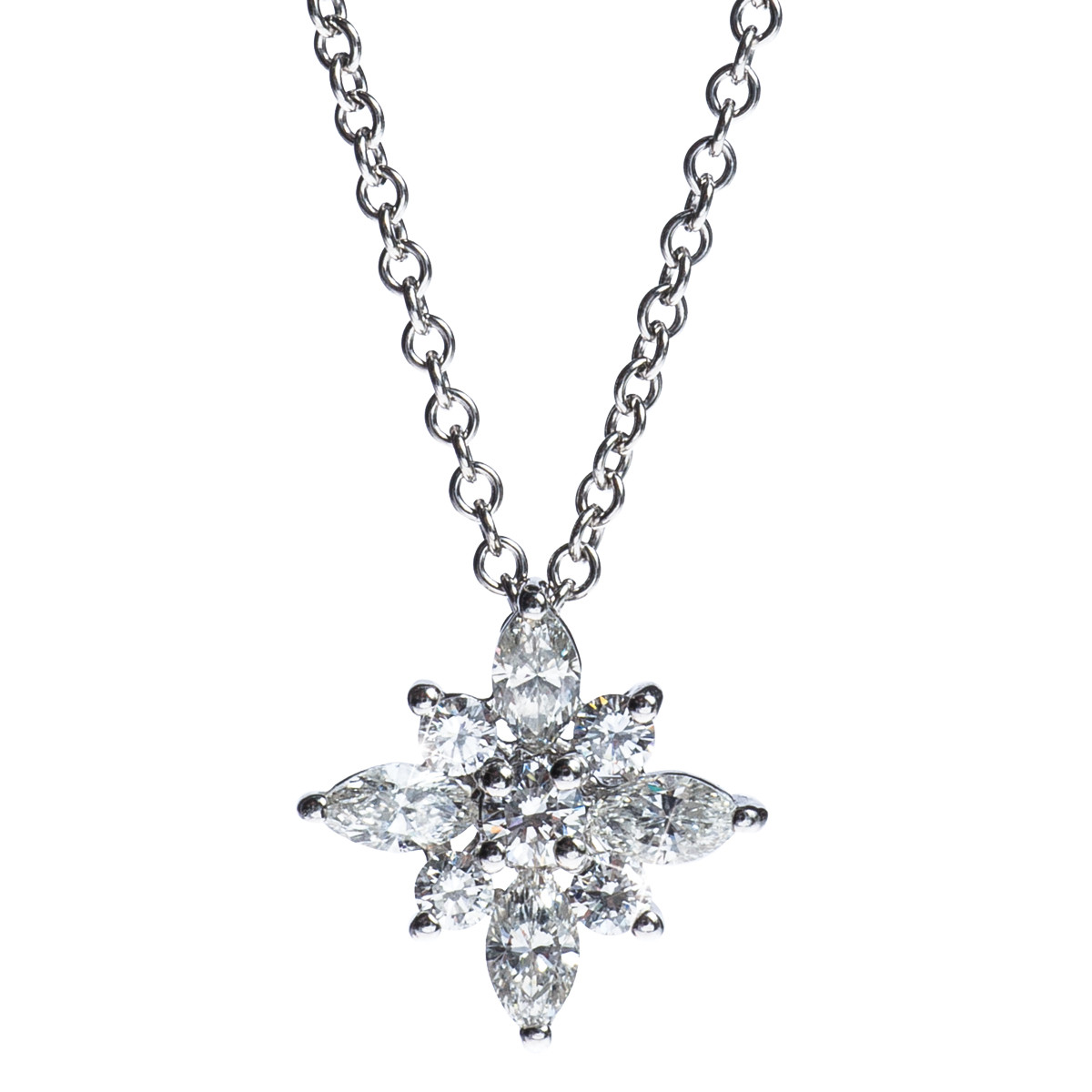 Vintage Platinum .044 CTW Diamond Star Pendant