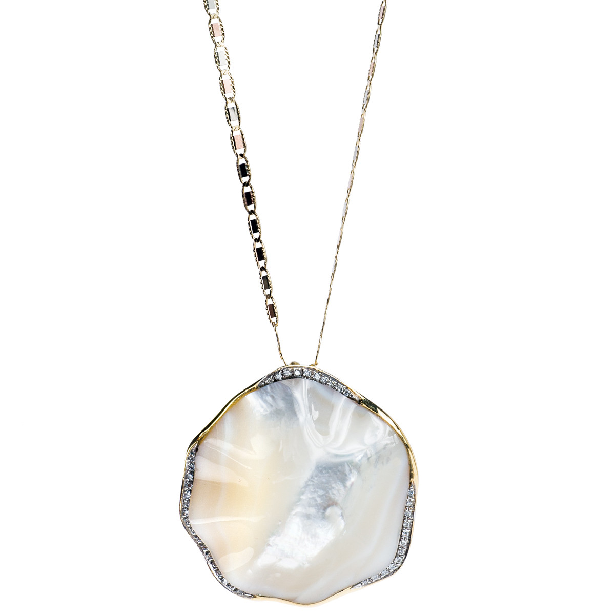 Vintage Diamond & Mother-Of-Pearl Pendant