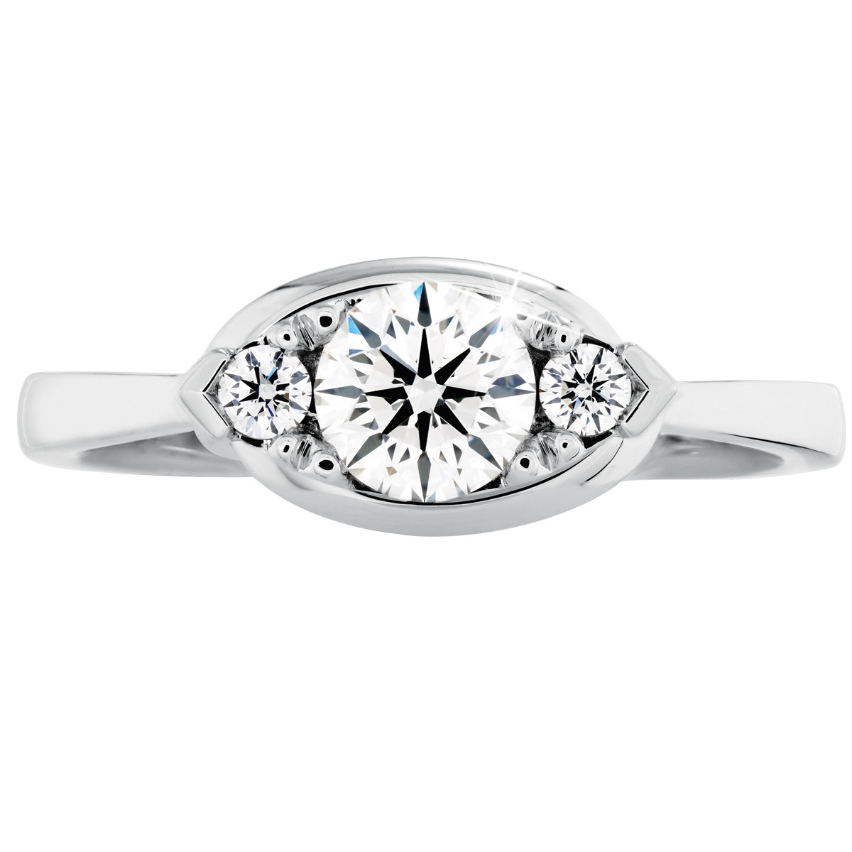 Hearts On Fire® 0.88 CTW Diamond Sensational Optima Regal Engagement Ring