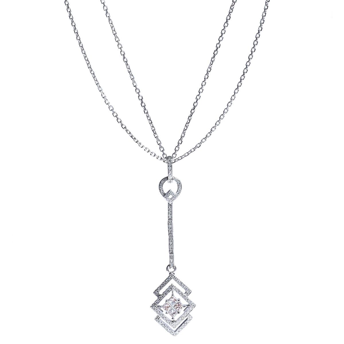 Art Deco Inspired Drop Pendant with 0.57 CTW Diamonds