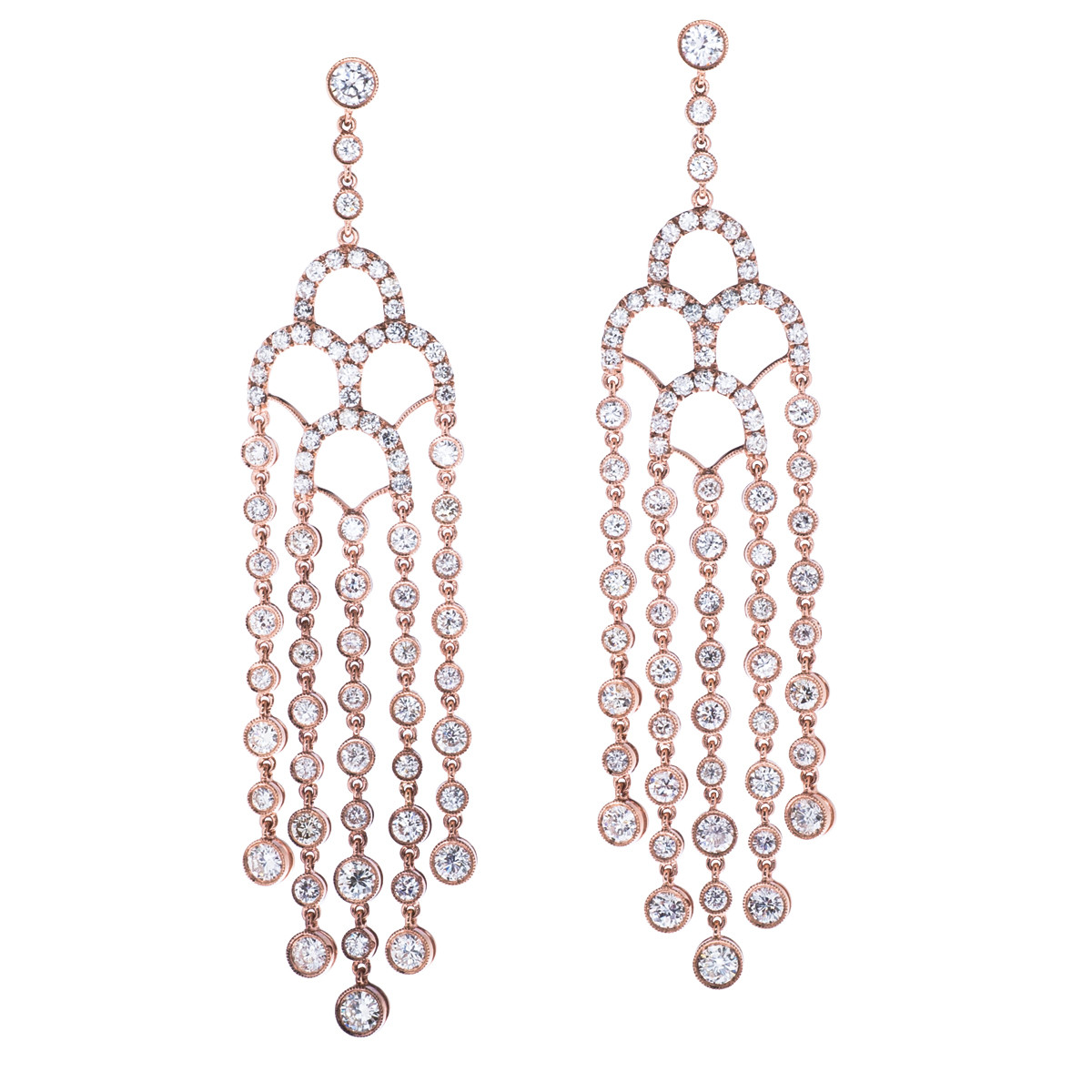 9.09 CTW Diamond Chandelier Earrings