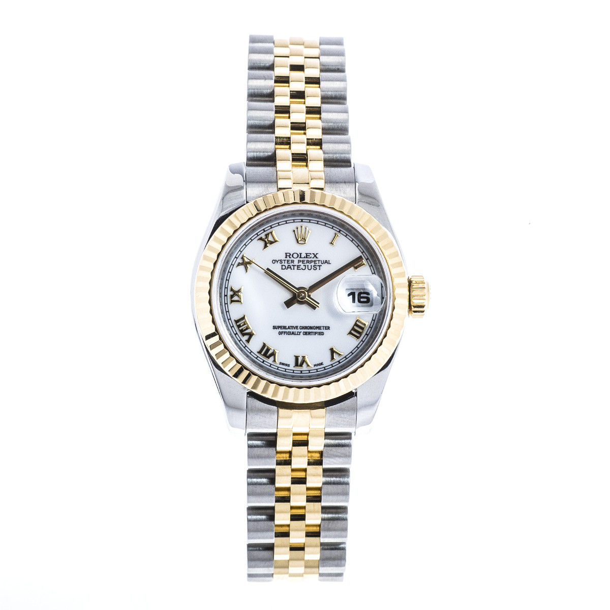Pre-Owned Women's Rolex Datejust with White Roman Dial