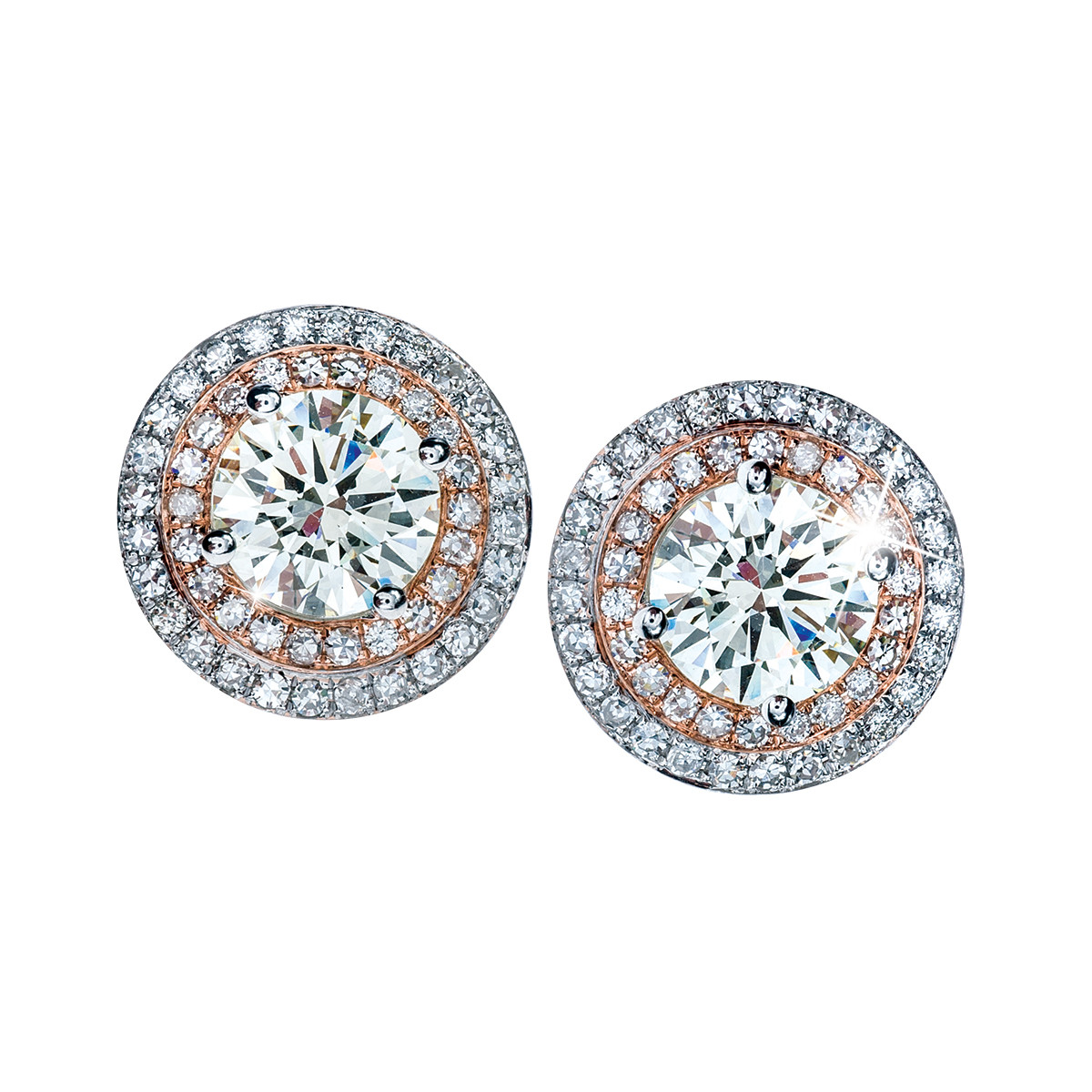 5.08 CTW Diamond Double Halo Earrings