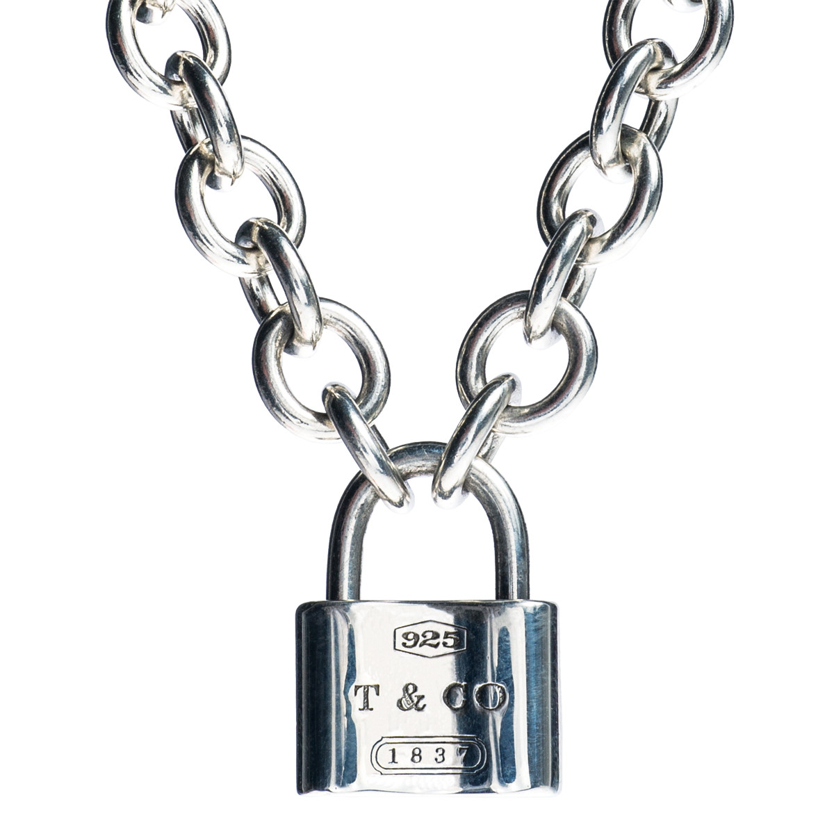 Vintage Tiffany & Co. 1837 Padlock Pendant