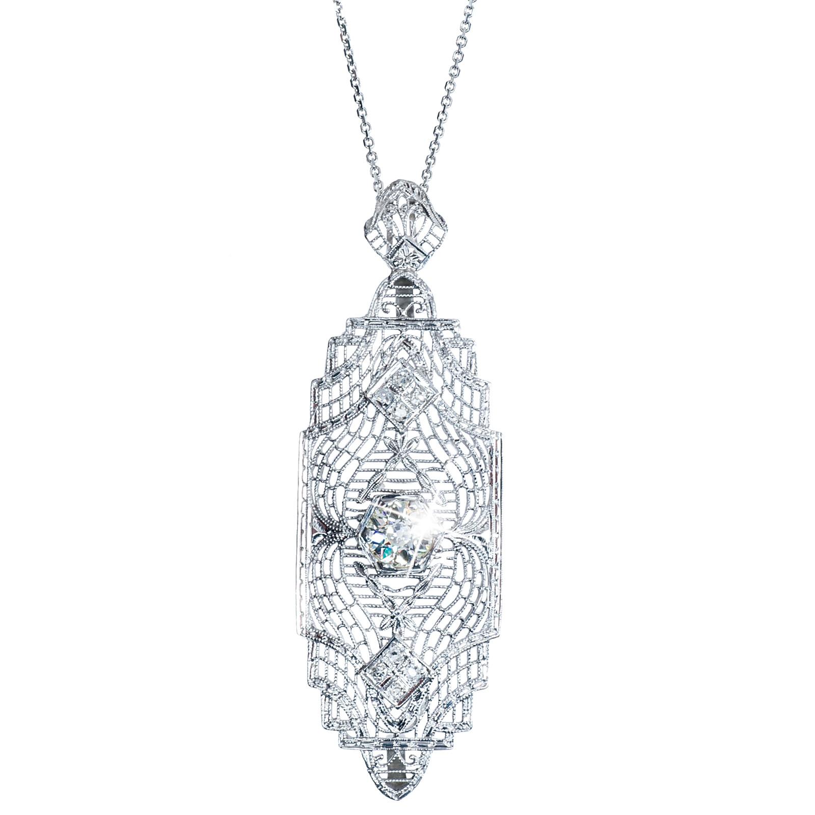 Antique Edwardian 0.90 CTW Diamond Necklace