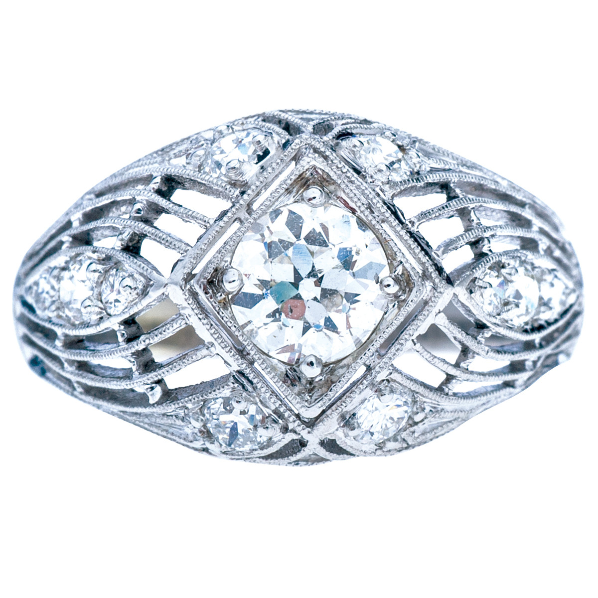 Antique Edwardian 0.99 CTW Diamond Ring