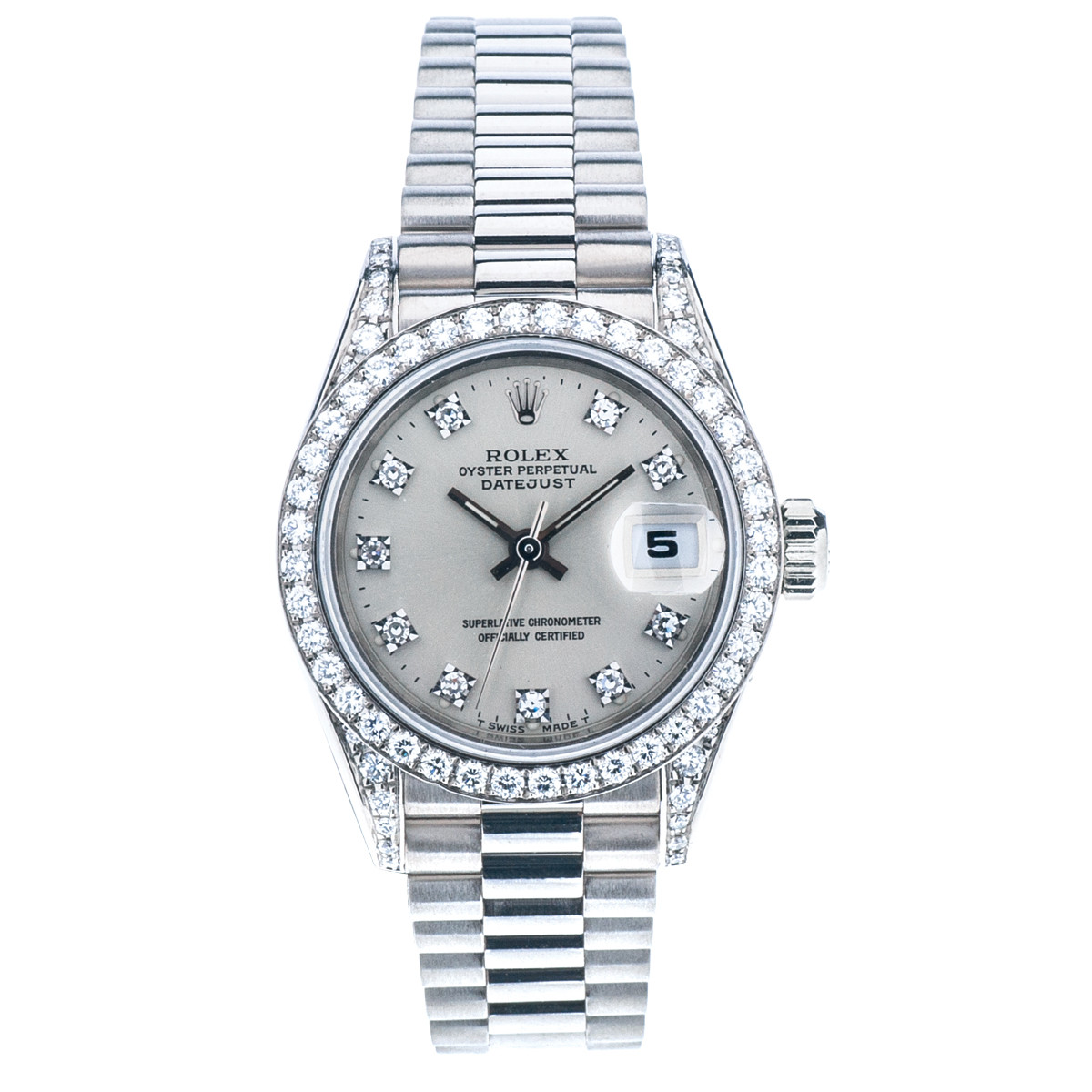 Pre-Owned Rolex Datejust President with Diamond Dial & Bezel