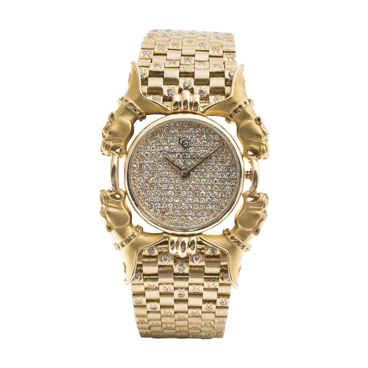 Preowned Carrera y Carrera Diamond Leopard Watch