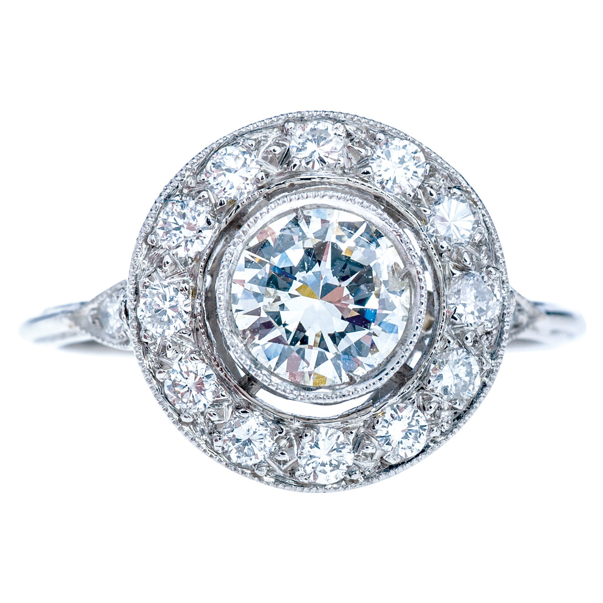 Edwardian Inspired 0.99 CTW Diamond Engagement Ring