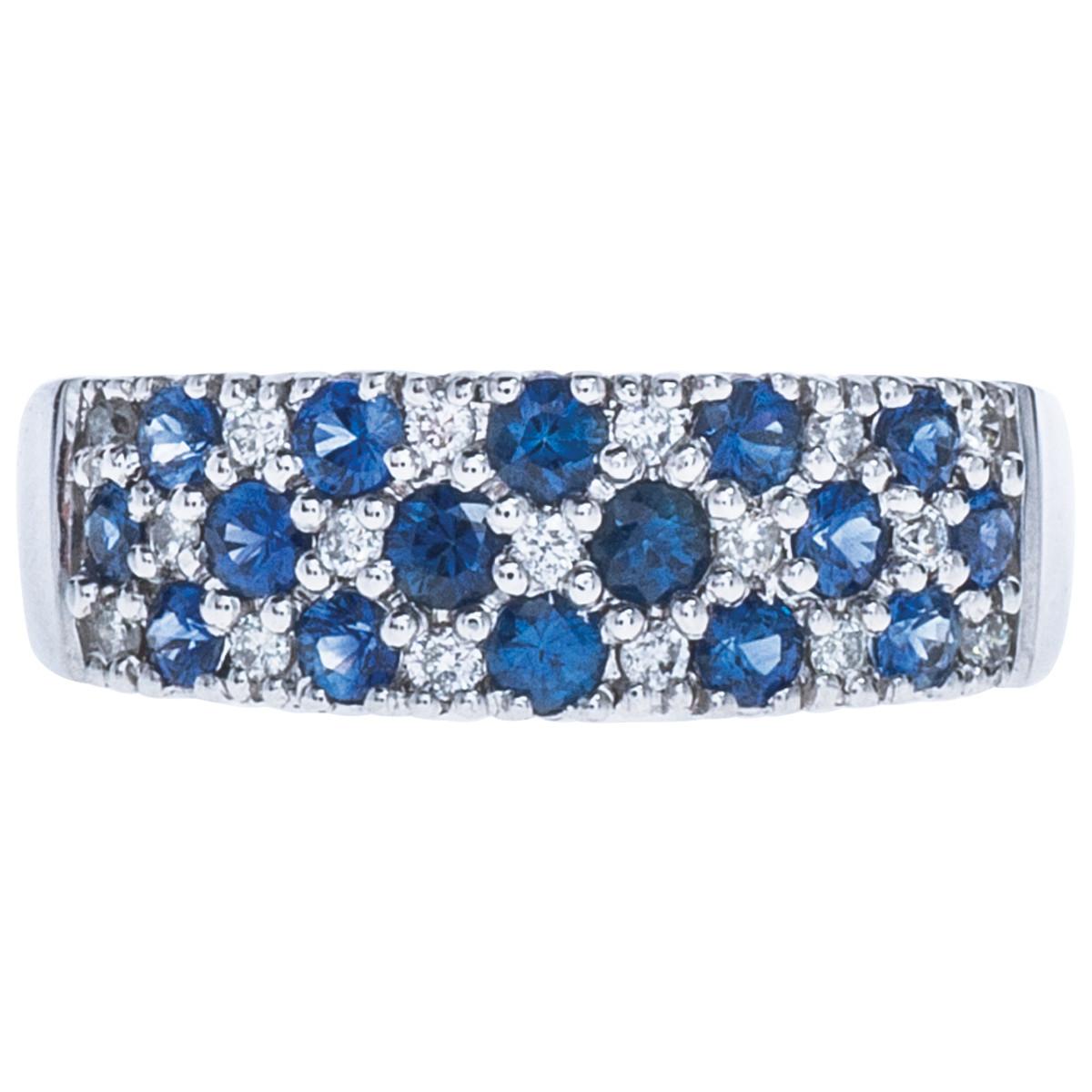 Vintage 1.13 CTW Sapphire & Diamond Ring
