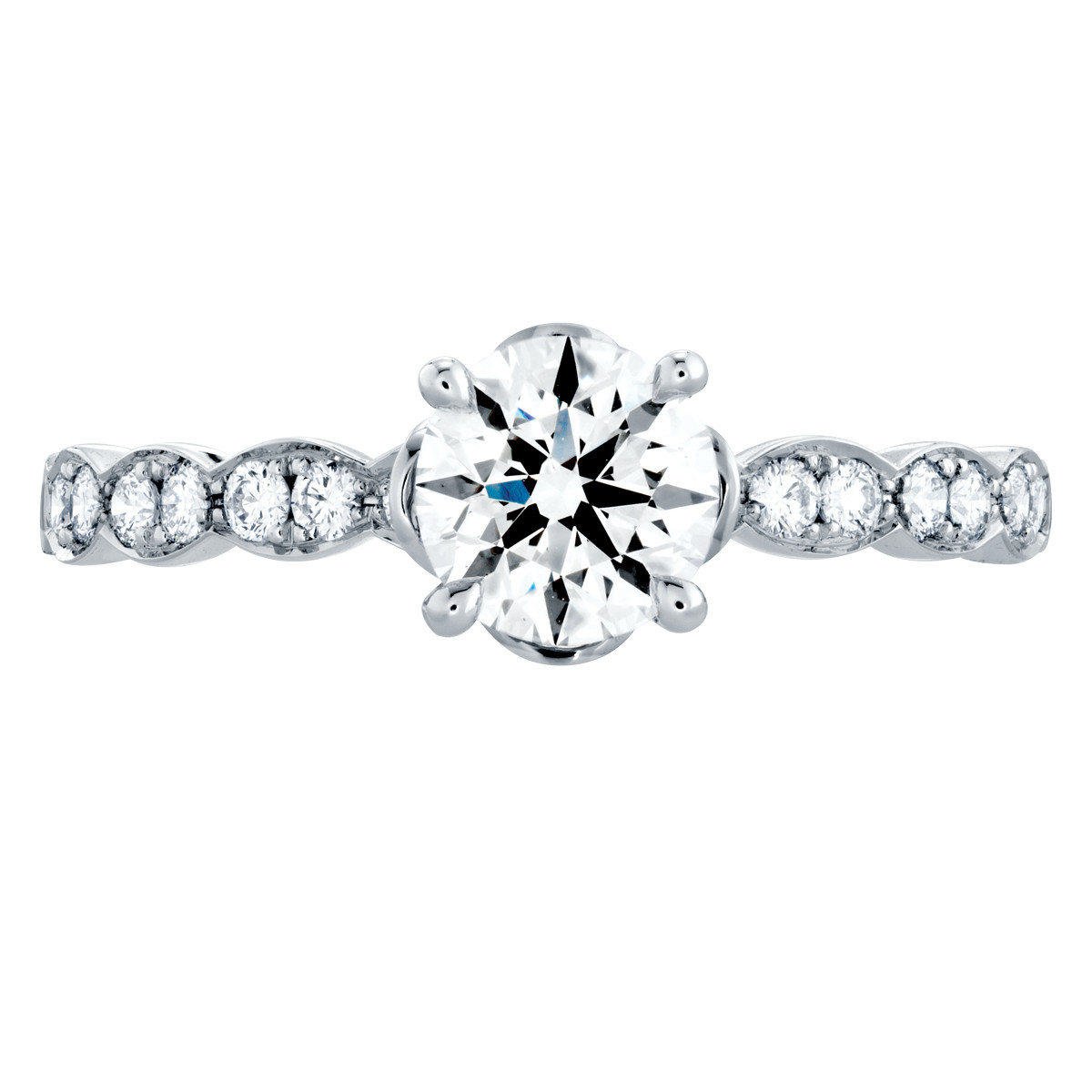 Hearts On Fire® 1.28 CTW Diamond Lorelei Floral Engagement Ring
