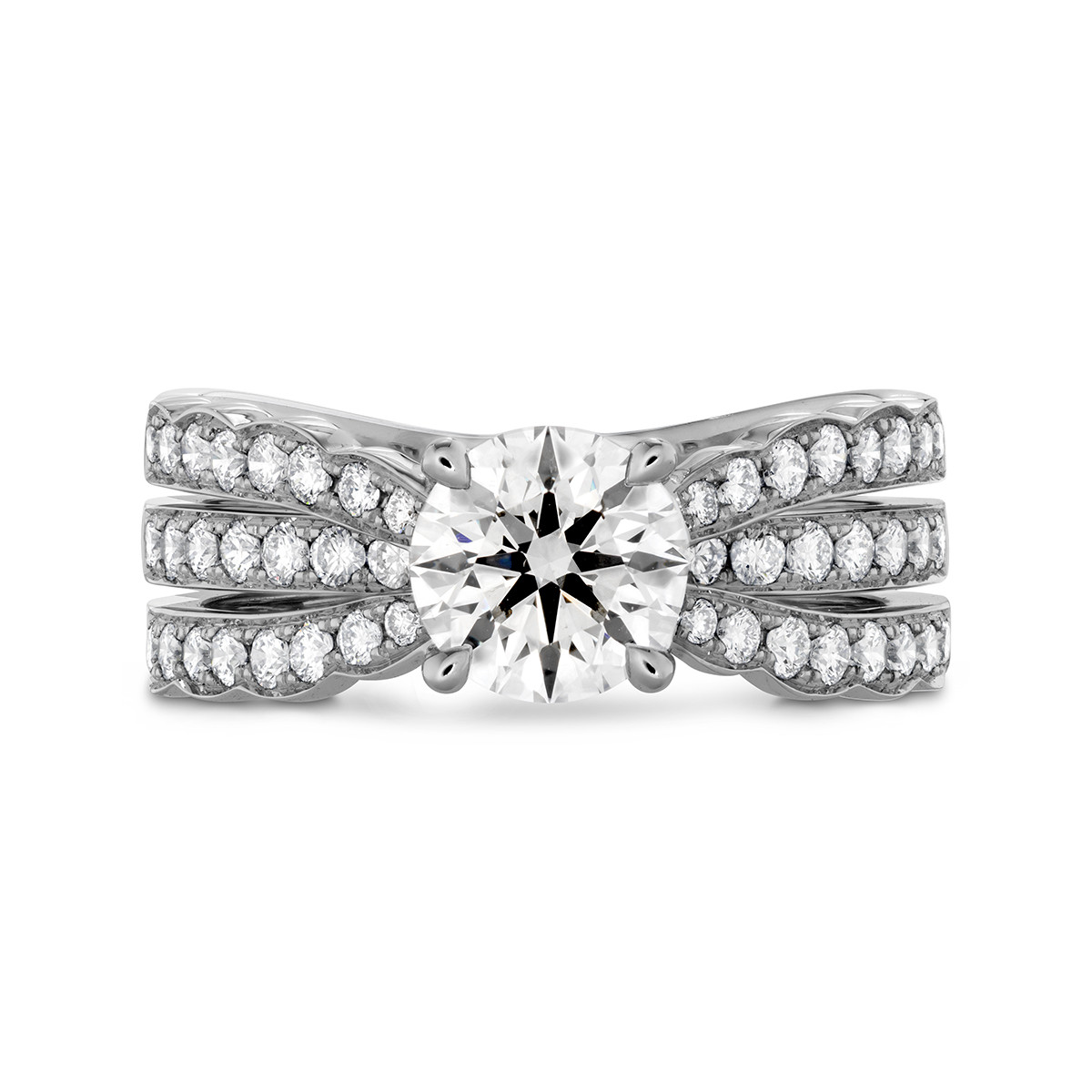 New Hearts On Fire® 1.62 CTW Diamond Lorelei Triple Row Engagement Ring