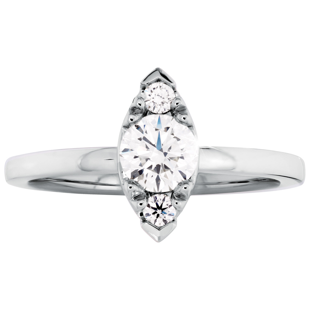 Hearts On Fire® 0.62 CTW Diamond Desire Simply Regal Engagement Ring