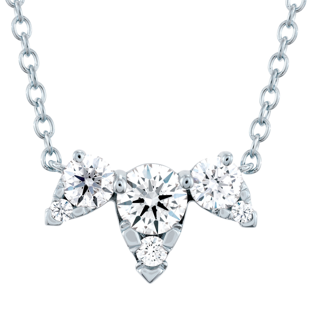Hearts On Fire® 0.47 CTW Aerial Triple Diamond Necklace