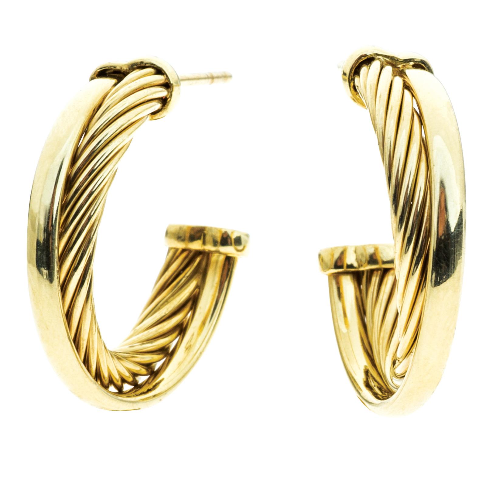 Vintage David Yurman Crossover Earrings