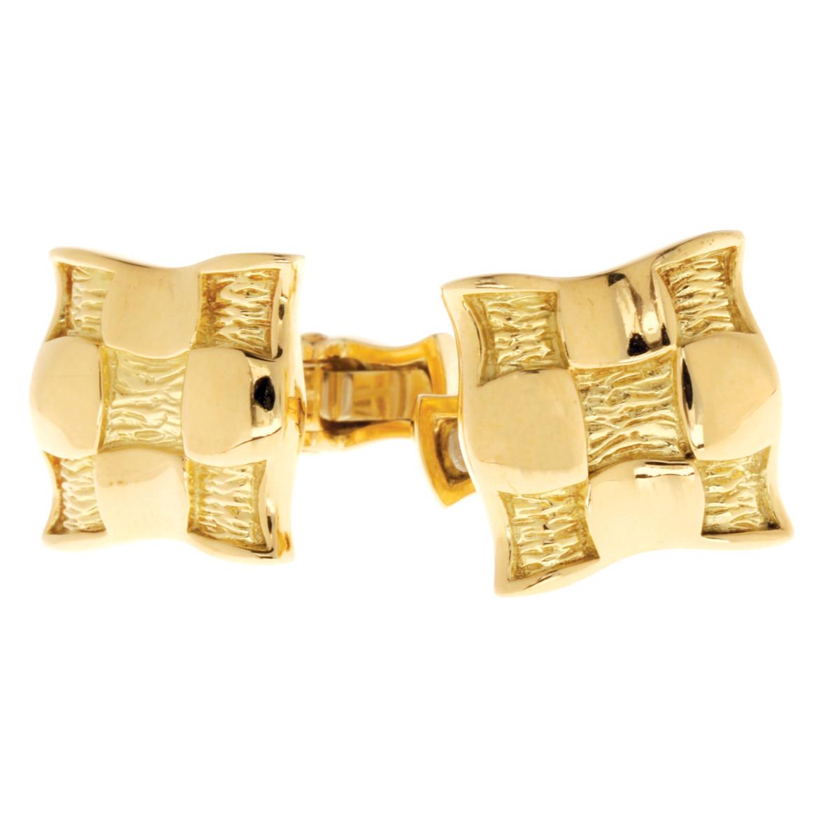 Vintage Tiffany & Co. Checker Cufflinks