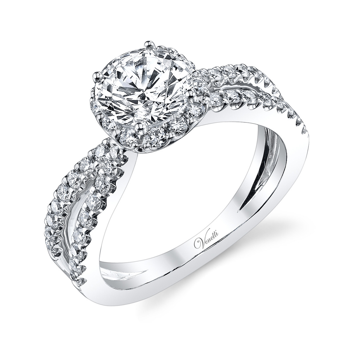 New Venetti 0.70 CTW Diamond Engagement Ring Setting