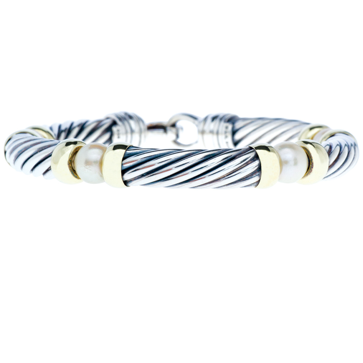 Vintage David Yurman Pearl Cable Bracelet