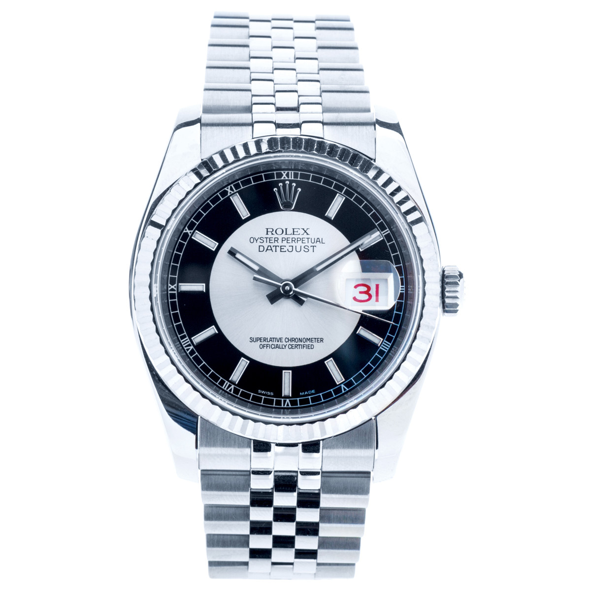 Pre-Owned Rolex Datejust with Tuxedo Dial