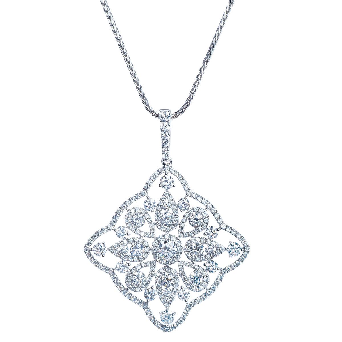 Vintage 3.73 CTW Diamond Pendant