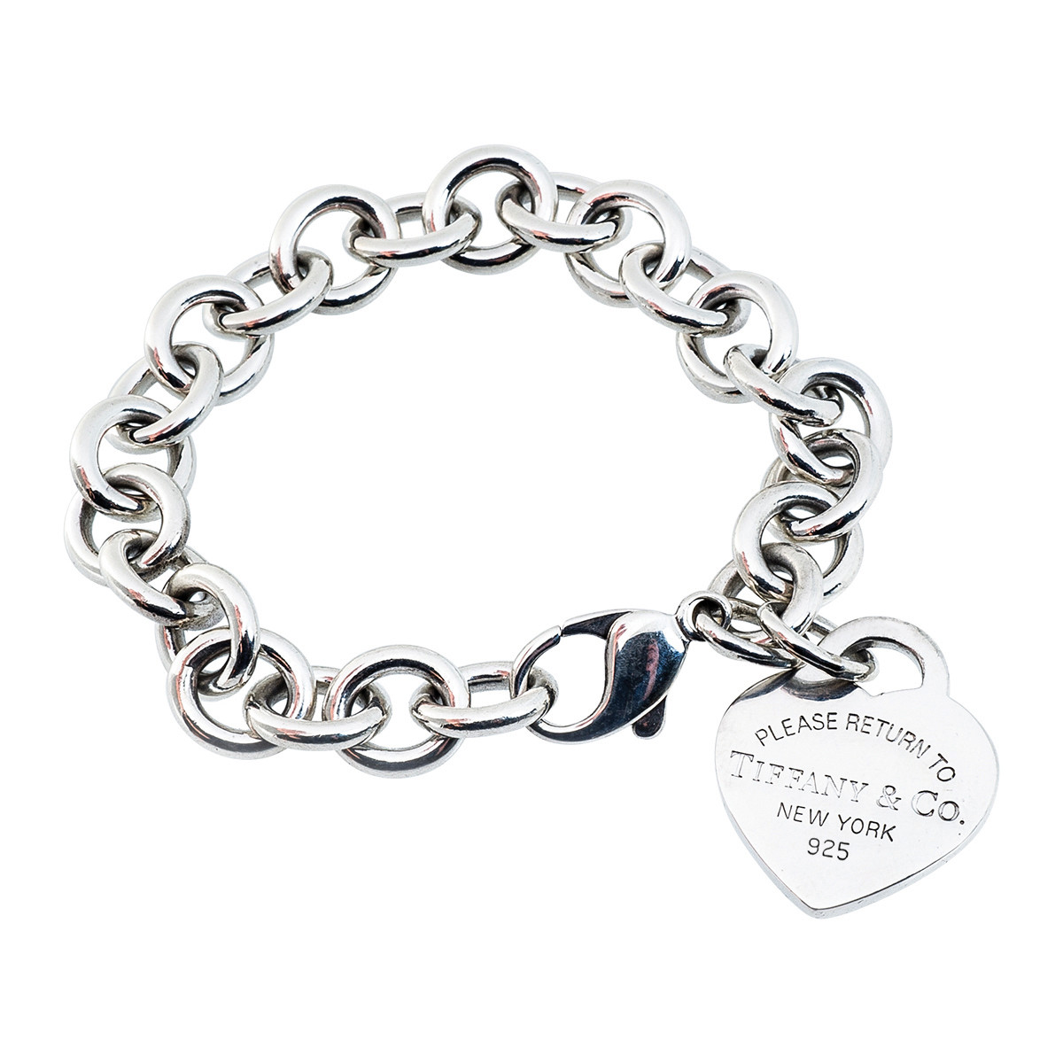 Please Return To Tiffany Heart Tag Charm Bracelet Gallery Image