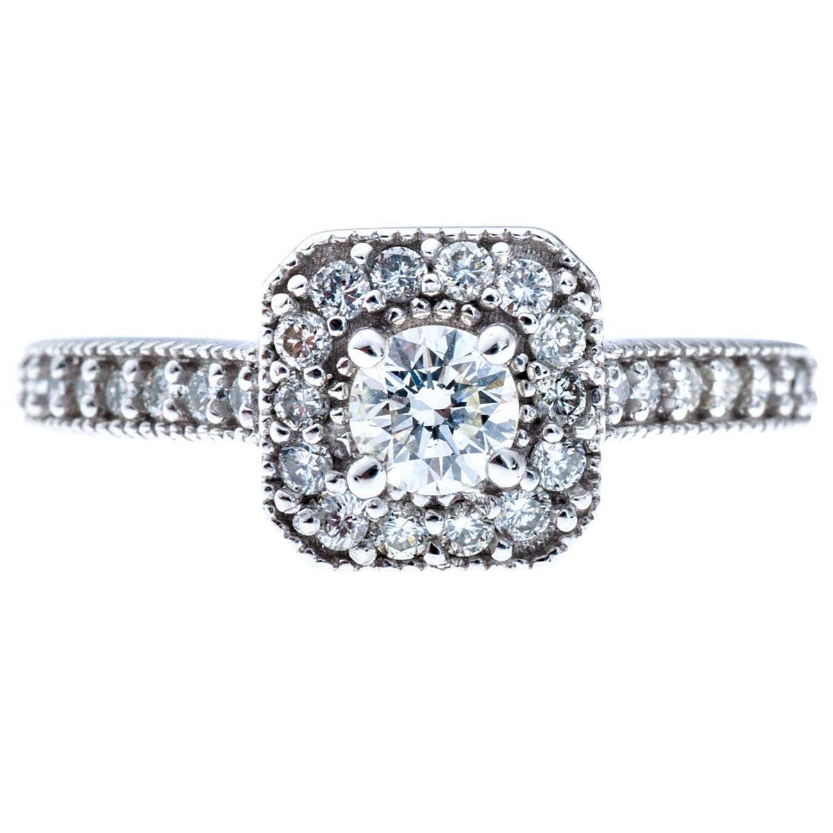 Vintage 0.52 CTW Diamond Engagement Ring