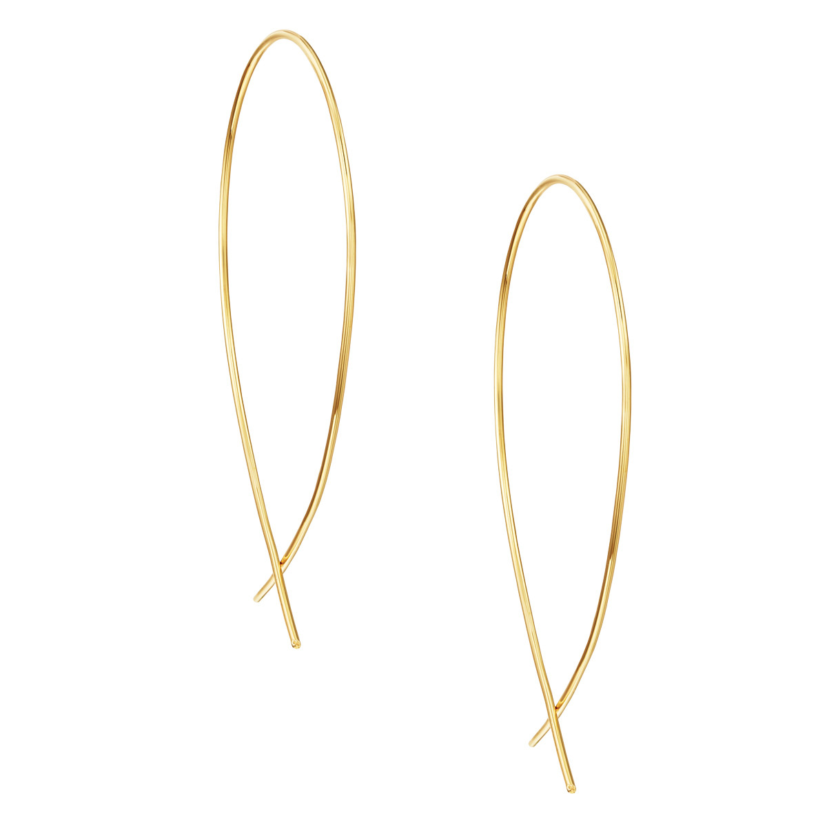 Lana Jewelry Upside Down Hoop Earrings