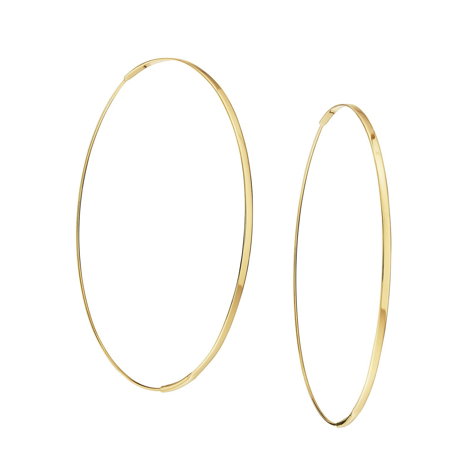 New Lana Flat Magic Hoop Earrings
