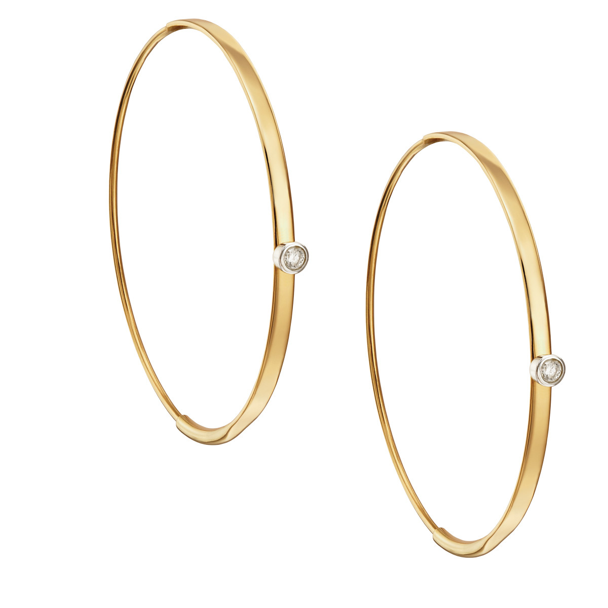 Lana Flat Magic Hoop Earrings