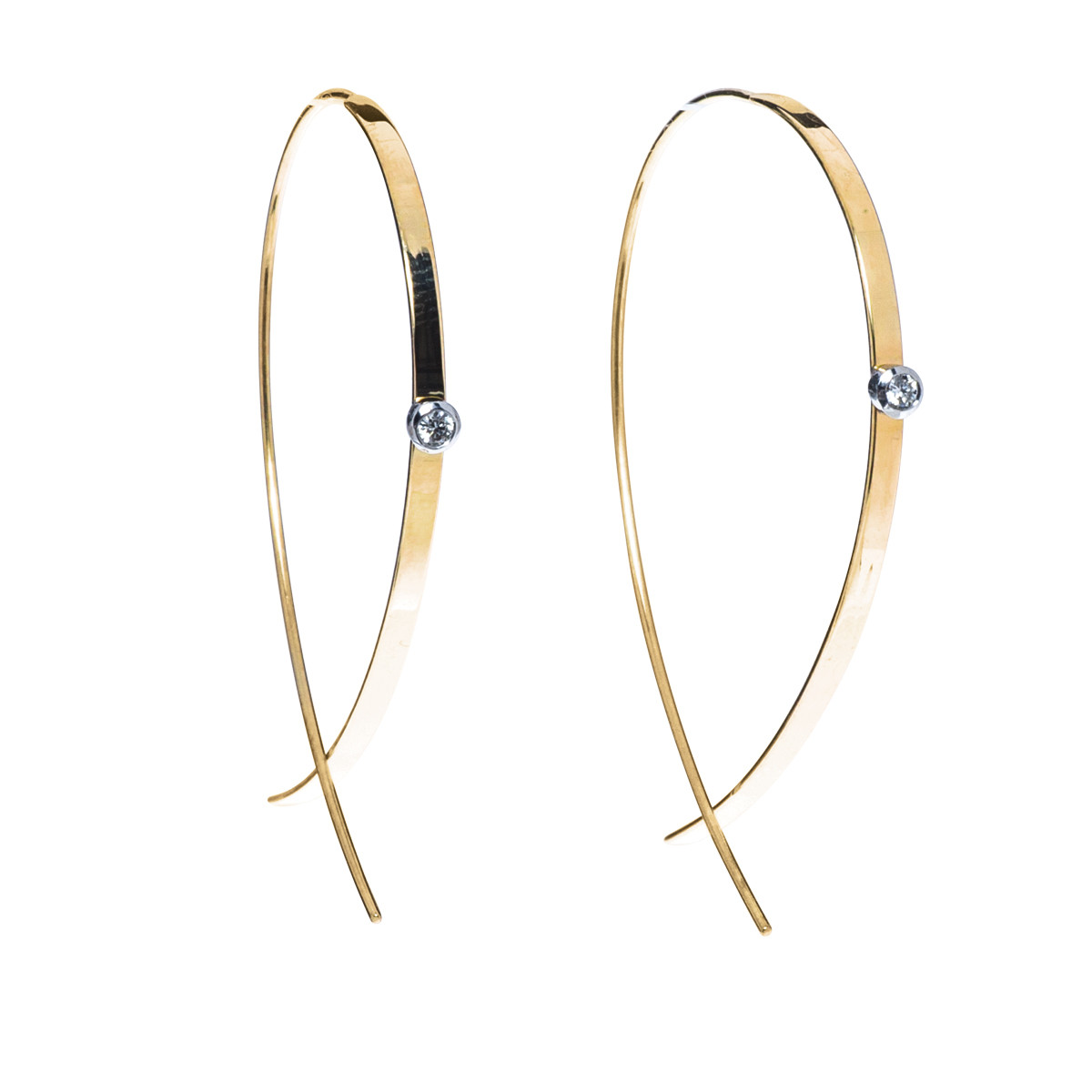 Lana Jewelry Upside Down Flat Hoops
