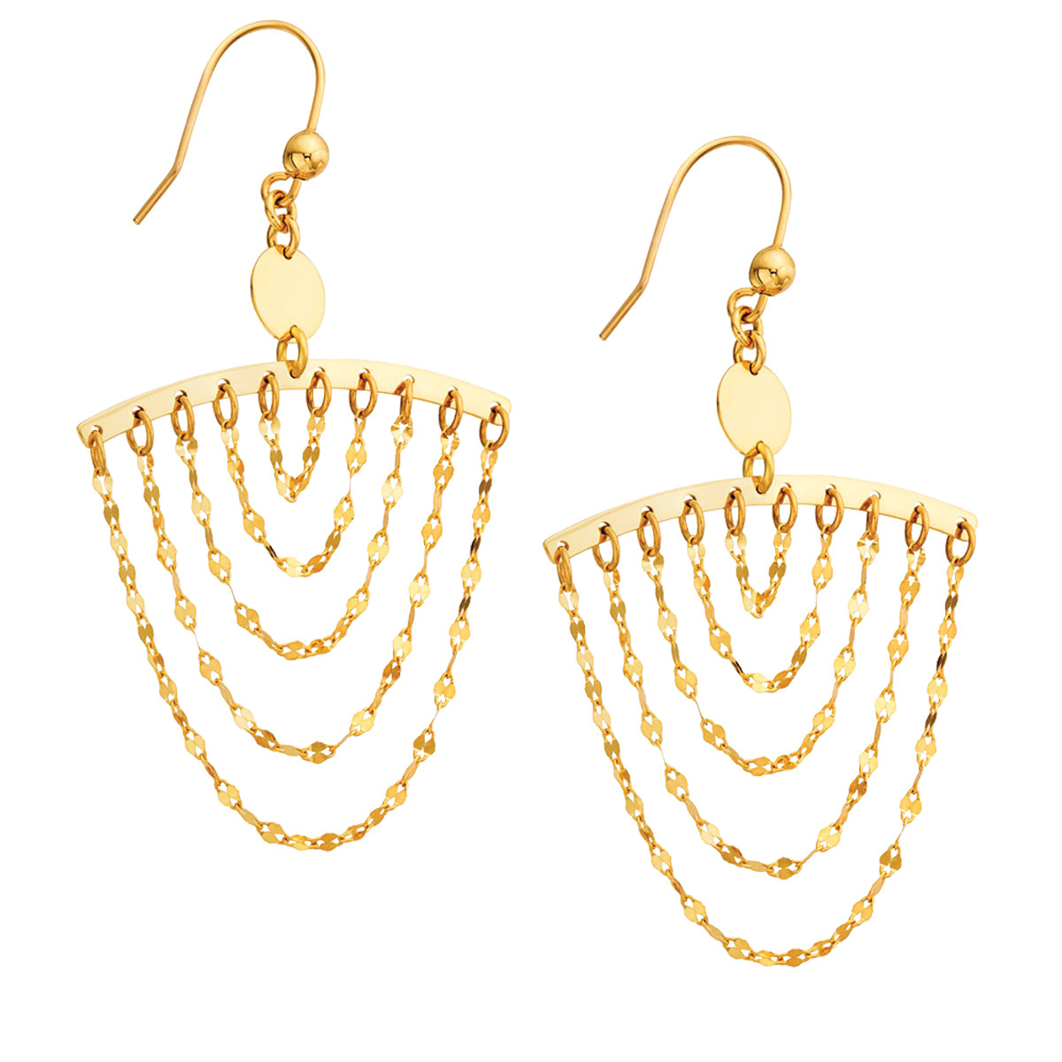 Lana Cascade Gold Chain Dangle Earrings