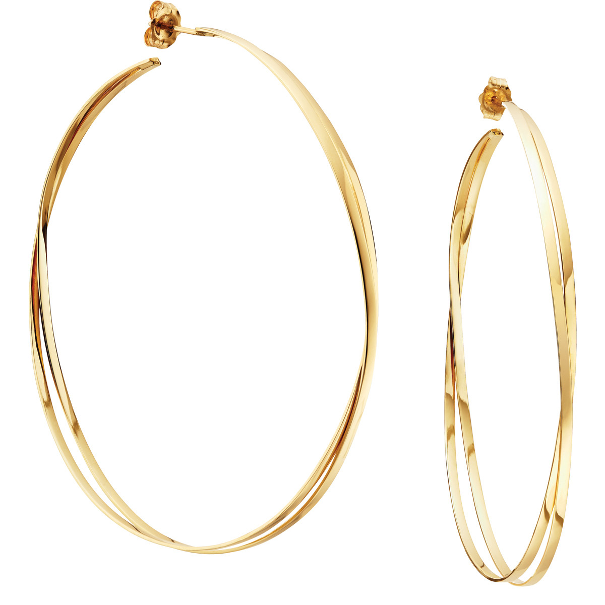 Lana Jewelry Decades Twisted Hoops