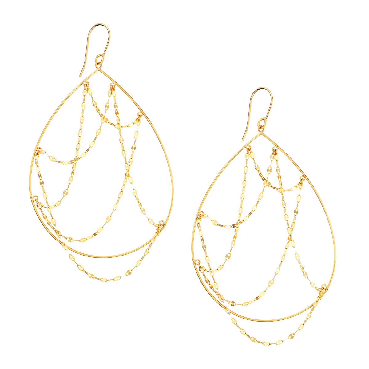 Lana Oval Web Dangle Earrings