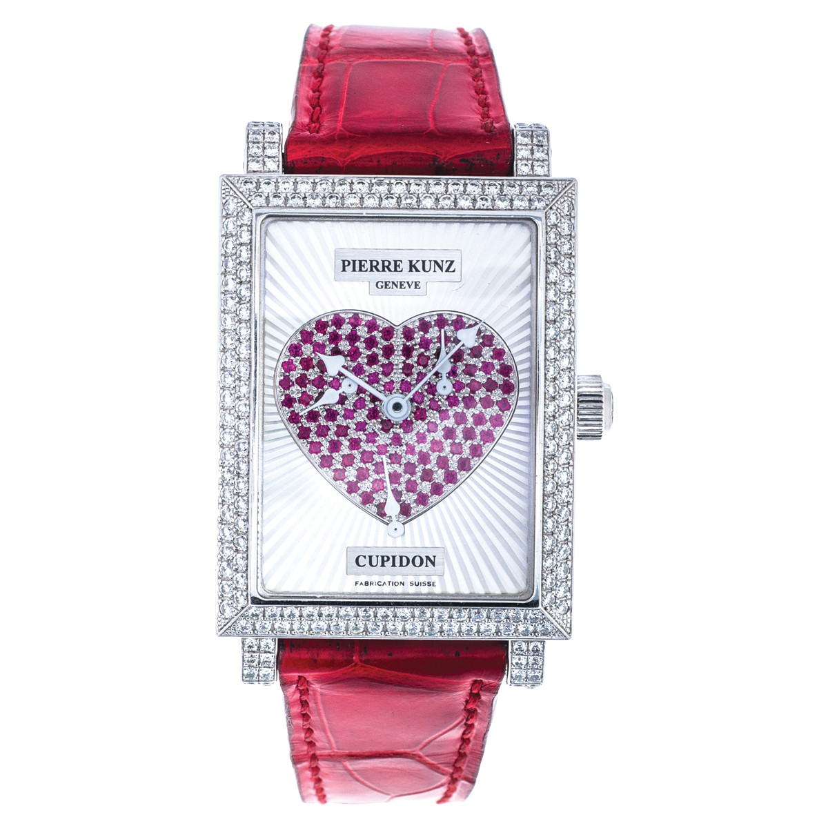 Preowned Pierre Kunz with Ruby Heart Dial